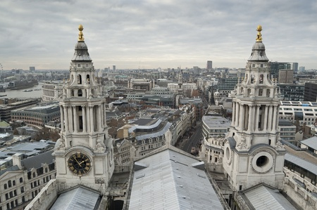 central square: Views of The City of London from St. Paul Cathedral Stock Photo