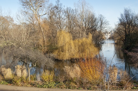 hectare: St. James Park, London. It is a 23 hectare park in Westminster, central London