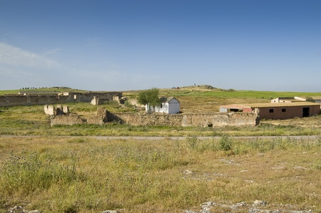 Old hamlet in Ciudad Real province, Spain photo