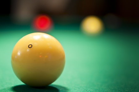 Billiard balls on the table