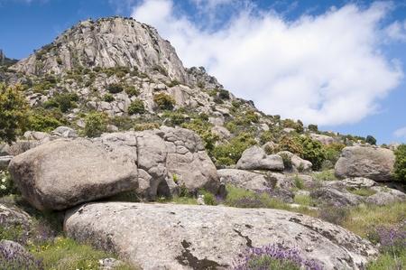 steep holm: Pico de la Miel  Honey Peak   It is a granite batholith located at  Sierra de la Cabrera, Madrid, Spain