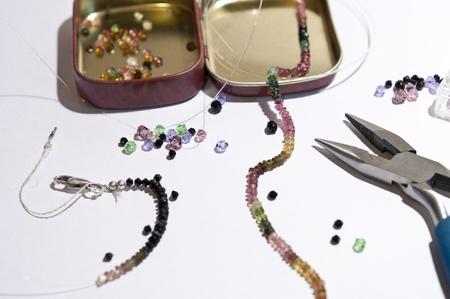 tourmaline: Tourmaline necklace Stock Photo