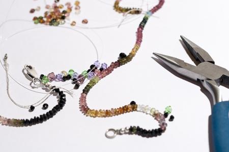 Tourmaline necklace Фото со стока