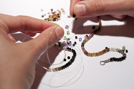 Tourmaline necklace Stock Photo