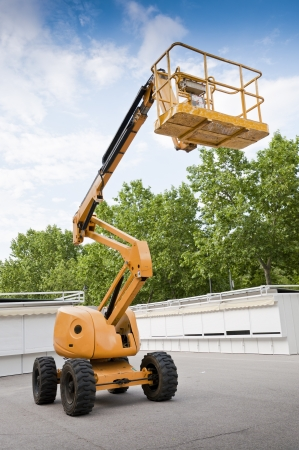 Aerial Boom Lift Stock Photo