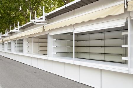 prefabricated: Prefabricated stands Stock Photo