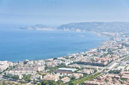 Views of Javea town from Montgo Massif, Alicante, Spain Stock Photo