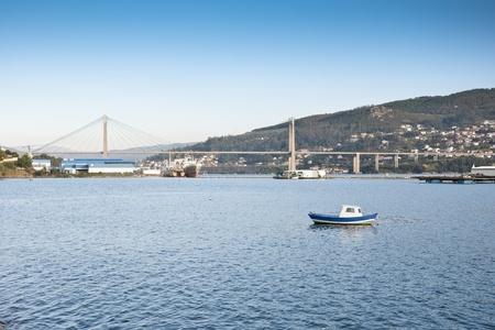 galizia: Barca da pesca in Ria di Vigo, Galizia, Spagna