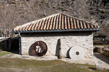 gristmill: Old restored water mill  Picture taken in La Hiruela, Madrid, Spain