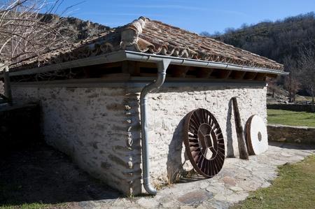 Old restored water mill  Picture taken in La Hiruela, Madrid, Spain photo
