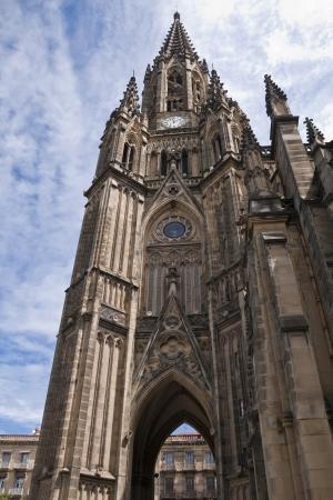 good shepherd: Bell Tower of Cathedral of Good Shepherd  San Sebastián, Spain  Stock Photo