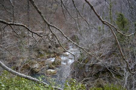 Rivulet in Urbasa Range, Navarre, Spain photo
