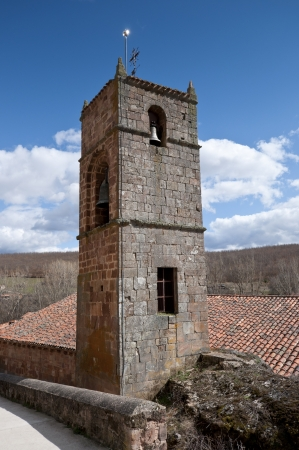 millan: Bell tower of San Millan de Lara Church, Burgos Province, Spain  It was building on 1165 in Romanesque style