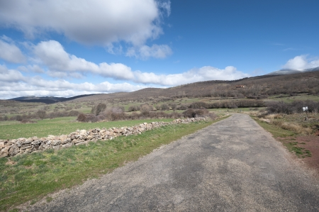 millan: Country road in San Millan de Lara, Burgos Province, Spain