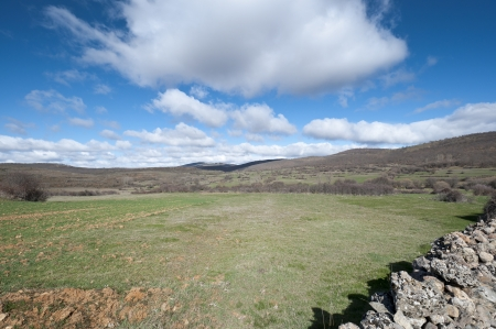 millan: Countryside in San Millan de Lara, Burgos Province, Spain