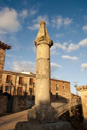 millan: Pillory in San Millan de Lara, Burgos Province, Spain  It was building on XVIII century