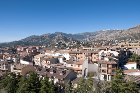 Views of Manzanares el Real, Madrid Province, Spain  It is located at the foot of The Pedriza, a part of the Sierra de Guadarrama   photo