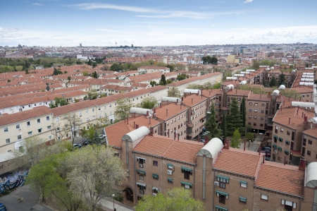Views of Madrid City from Carabanchel district  It is in the south western suburbs of Madrid