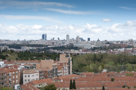 Views of Madrid City from Carabanchel district  It is in the south western suburbs of Madrid   photo