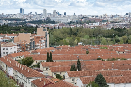 Views of Madrid City from Carabanchel district  It is in the south western suburbs of Madrid   Stock Photo