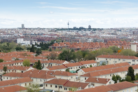 Views of Madrid City from Carabanchel district  It is in the south western suburbs of Madrid   Stock Photo - 21970080