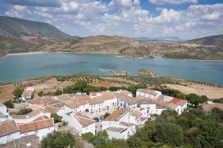 Views of Zahara – El Gastor Reservoir, from Zahara de la Sierra town, Cadiz, Andalusia, Spain  photo