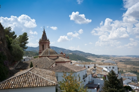 Views of Zahara de la Sierra, Spain  This village is part of the pueblos blancos -white towns- in southern Spain Andalusia region  photo