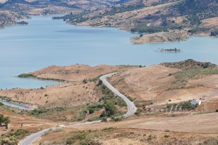 Country roan next to the Zahara – Gastor Reservoir, Sierra de Grazalema Natural Park, Cadiz, Andalusia, Spain  photo
