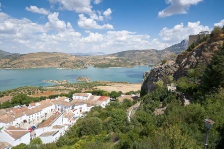 Views of Zahara – El Gastor Reservoir, from Zahara de la Sierra town, Cadiz, Andalusia, Spain  photo