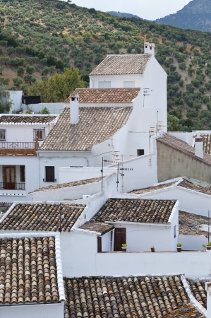 Traditional White houses in Zahara de la Sierra, Spain photo