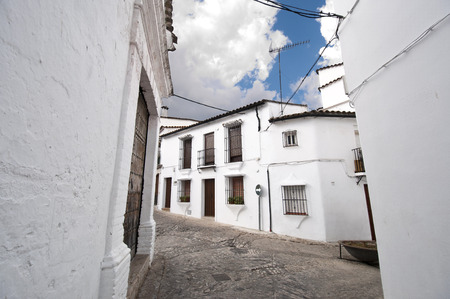 Traditional white houses in Grazalema town, Spain. photo