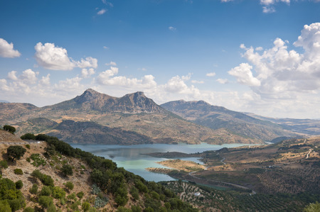 Views of Zahara – El Gastor Reservoir, Cadiz, Andalusia, Spain  photo