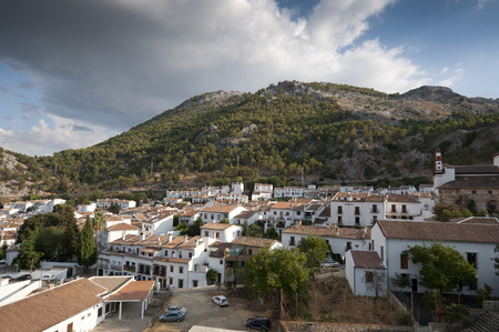 Views of Grazalema, Cadiz. This village is part of the pueblos blancos (white towns) in southern Spain Andalusia region, and reminds the Arab past  photo