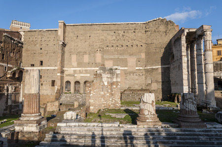 Temple of Mars Ultor in the Forum of Augustus, Rome, Italy  photo