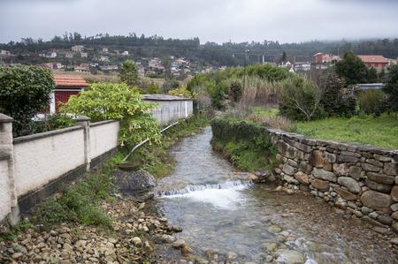 galicia: Small stream in Domaio, Ria of Vigo, Pontevedra, Galicia, Spain