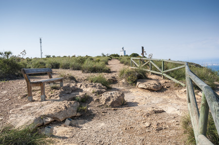 viewpoint: Viewpoint by the Mediterranean Sea. Photo taken from Sierra de Santa Pola, Santa Pola Mountains, Valencian Community, Alicante, Spain