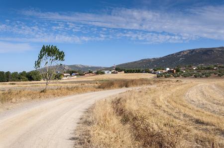 mancha: Traditional small hamlet in La Mancha, Ciudad Real Province, Spain Stock Photo