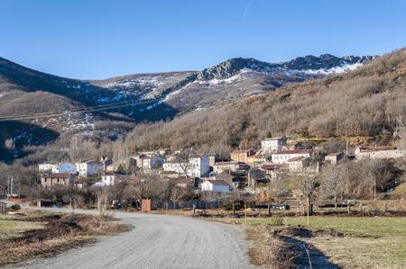 Views of Nocedo de Gordon, a small town in the municipality of La Pola de Gordon, in Leon Province, Spain Stock Photo