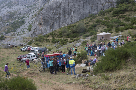 SOMIEDO – AUGUST, 15, 2015: Popular festival in Somiedo Nature Reserve, Principality of Asturias, Spain on August 15, 2015. Editorial