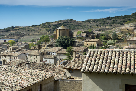 Views of Uncastillo. It is a historic town and municipality in the province of Zaragoza, Aragon, eastern Spain. In 1966 it was declared a Historic-Artistic site. It can be seen San Juan Church