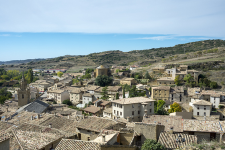 Views of Uncastillo. It is a historic town and municipality in the province of Zaragoza, Aragon, eastern Spain. In 1966 it was declared a Historic-Artistic site. It can be seen San Juan and Santa Maria Churches