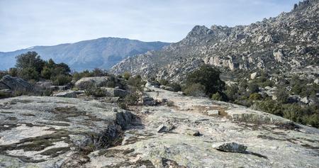 Views of La Cabrera Range, in Guadarrama Mountains, Madrid, Spain