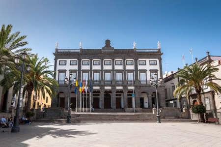 LAS PALMAS DE GRAN CANARIA-FEBRUARY 17, 2017: City hall of Las Palmas de Gran Canaria, in Las Palmas, Canary Islands, Spain, on February 17, 2017