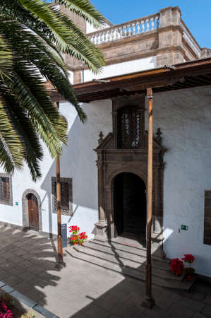 LAS PALMAS DE GRAN CANARIA - FEBRUARY 17, 2017: Views of the Patio de los Naranjos, Courtyard of the orange trees, in the Cathedral of Santa Ana, in Las Palmas, Canary Islands, Spain, on February 17, 2017. It is considered the most important monument of C Editorial