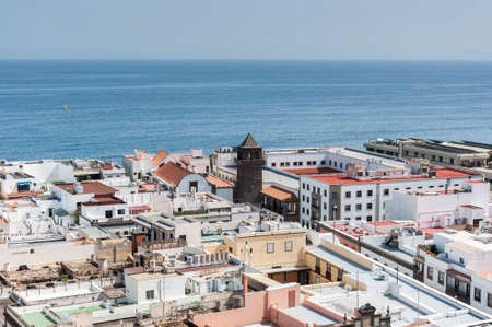 Views of the city of Las Palmas de Gran Canaria, Canary Islands, Spain, from the belltower of the Cathedral of Santa Ana