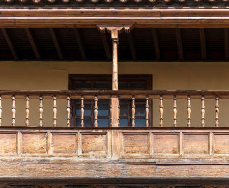 LAS PALMAS DE GRAN CANARIA - FEBRUARY 17, 2017: Close-up of the balconies of the Casa de Colon, Columbus's House, in Las Palmas, Canary Islands, Spain, on February 17, 2017. Editorial