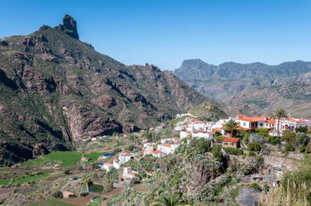 Views of the town of Tejeda, in the interior of the Gran Canaria Island, Canary Islands, Spain. Stock Photo