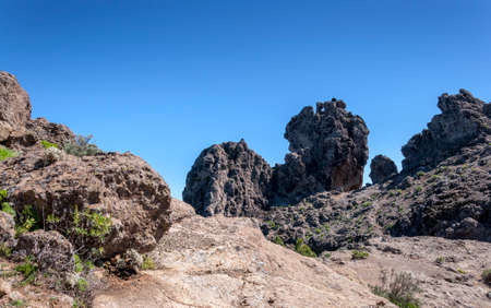Volcanic rock formations in Nublo Rural Park, in the interior of the Gran Canaria Island, Canary Islands, SpainVolcanic rock formations in Nublo Rural Park, in the interior of the Gran Canaria Island, Canary Islands, Spain