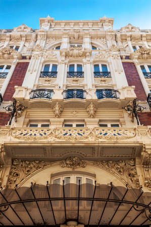 Modernist architecture in the city of Cartagena, Murcia, Spain.
