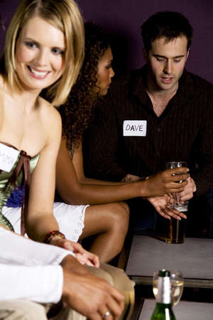 dating and romance: Men and women during speed dating LANG_EVOIMAGES